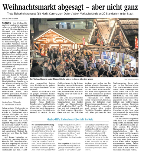 .©Oberhessische Presse, Ausgabe vom 05.11.2020