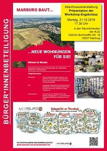 Wohnen im Marburger Westen, Abschlussveranstaltung zur Bürger*innenbeteiligung
