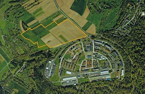 Am Hasenkopf soll ein großes Baugebiet entstehen. Die Fläche hat ein Potenzial von rund 900 Wohneinheiten.©Universitätsstadt Marburg