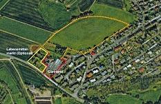 Die Siedlungserweiterungsfläche am Höhenweg (gelb gestrichelt) bleibt im Regionalplan - als mögliche Reserve. Zum Neubaugebiet entwickelt wird sie aktuell nicht.©Universitätsstadt Marburg