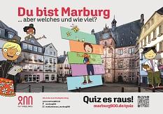 """Zeig Deiner Stadt, welcher Marburg-Typ Du bist: Das Stadtjubiläum Marburg800 lädt mit dem Schwerpunkt """"Marburg erfinden"""" auf www.marburg800.de/quiz zum Mitmachen ein.©Illustration: Melanie Groger/Foto: Jan Bosch, i. A. d. Stadt Marburg"""