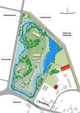 Zeiteninsel-Geländeplan 2015 des geplanten Freilichtmuseums Marburger Land©Universitätsstadt Marburg