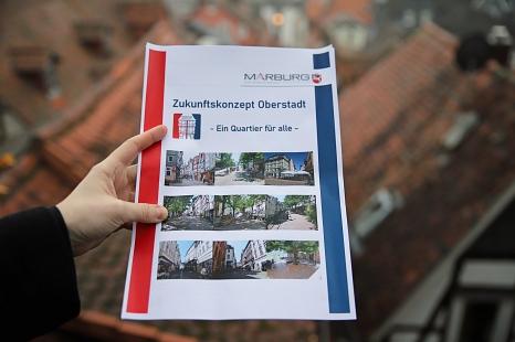 Das Zukunftskonzept Oberstadt ist nach eineinhalb Jahren intensiver Bürger*innenbeteiligung und Planung nun abgeschlossen.©Thomas Steinforth, Stadt Marburg