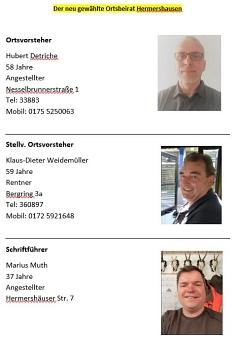 Zusammensetzung Ortsbeirat Hermershausen©Hubert Detriche