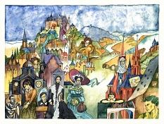 Zwölf berühmte und vergessene Marburgerinnen gemalt von Randi Grundke (Okt. 2008)©Randi Grundke